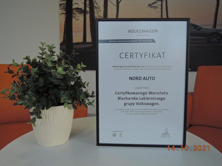 Certyfikat VW